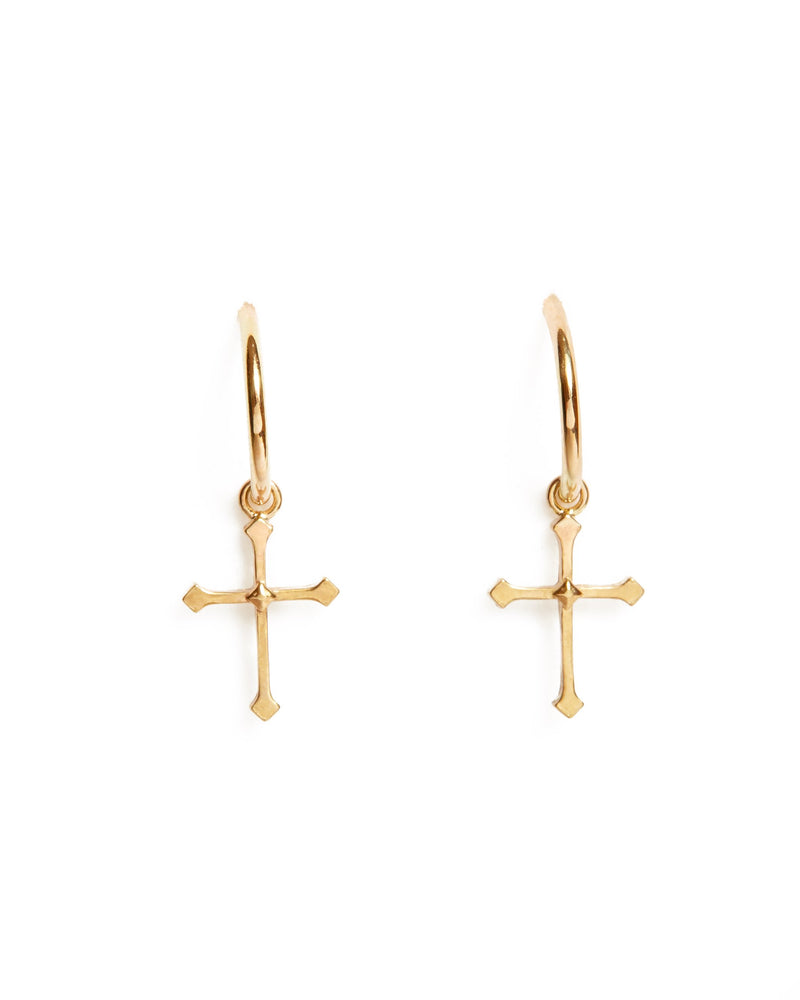 Mystic Cross Drops - 9ct Gold