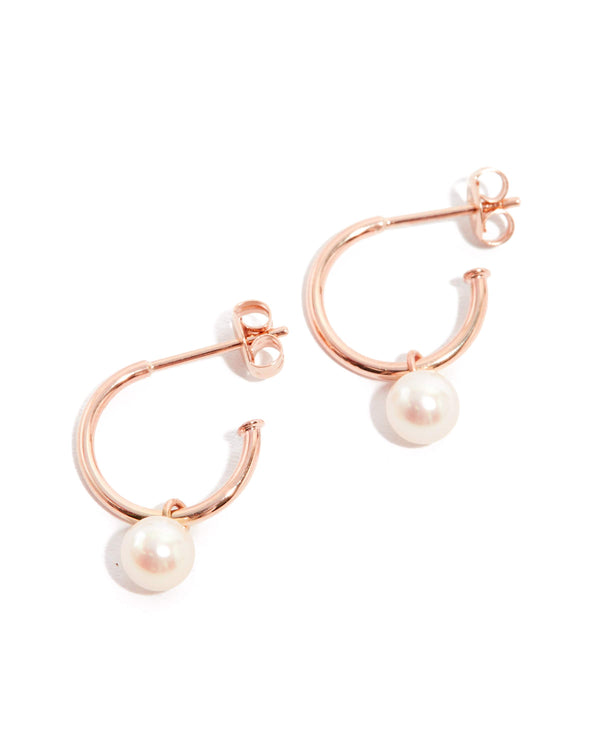 Nymph Pearl Drops - 9ct Rose Gold