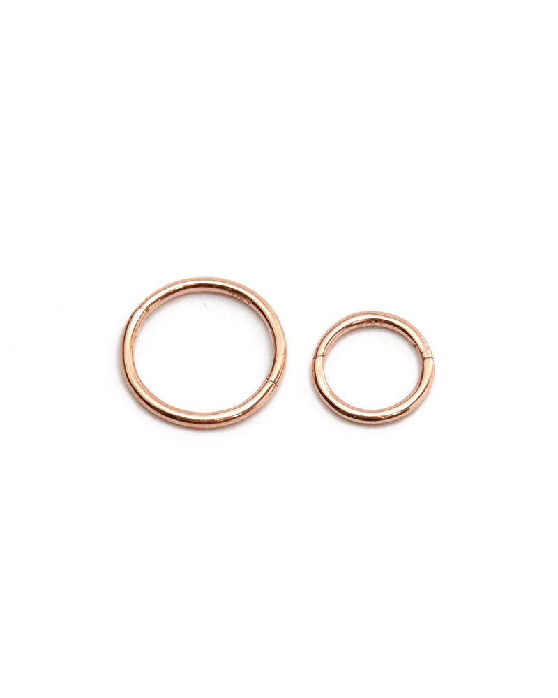 Sleeper Hoops 7mm - 9ct Rose Gold
