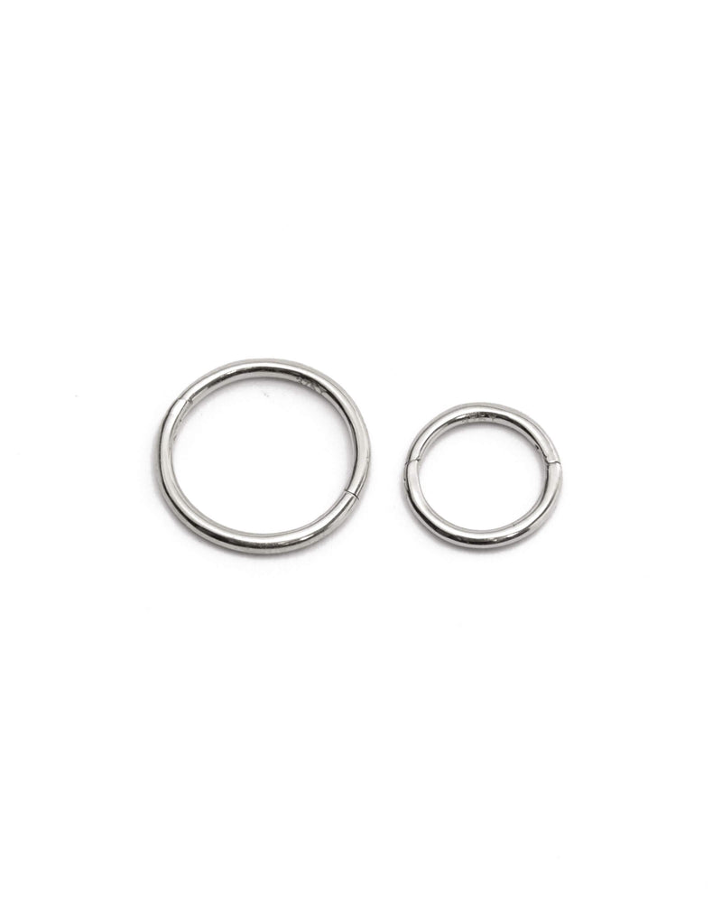 Sleeper Hoops 7mm - 9ct White Gold