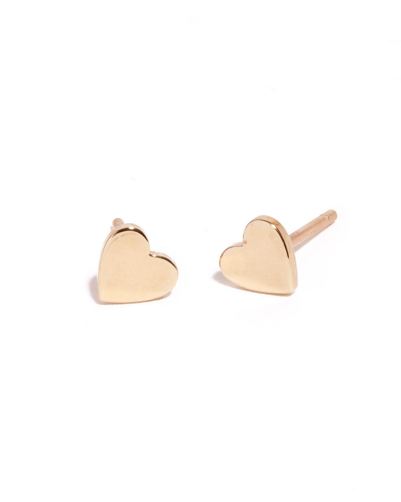 Heart Studs - 9ct Gold
