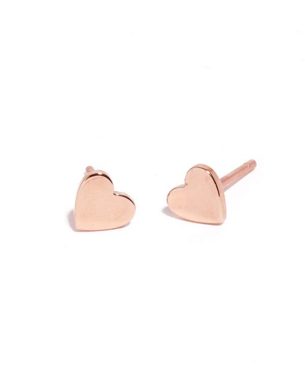 Heart Stud - 9ct Rose Gold