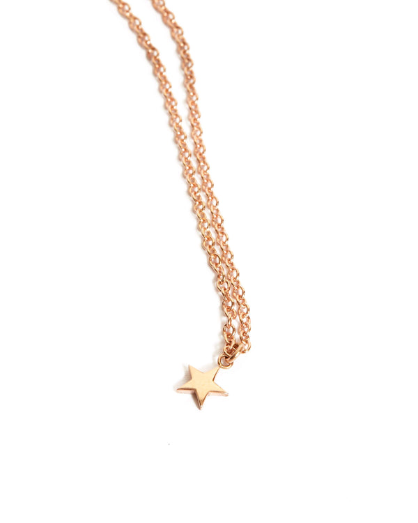 Star Necklace - 9ct Rose Gold
