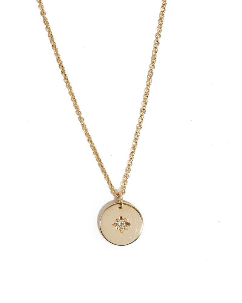 Sunray Diamond Necklace - 9ct Gold