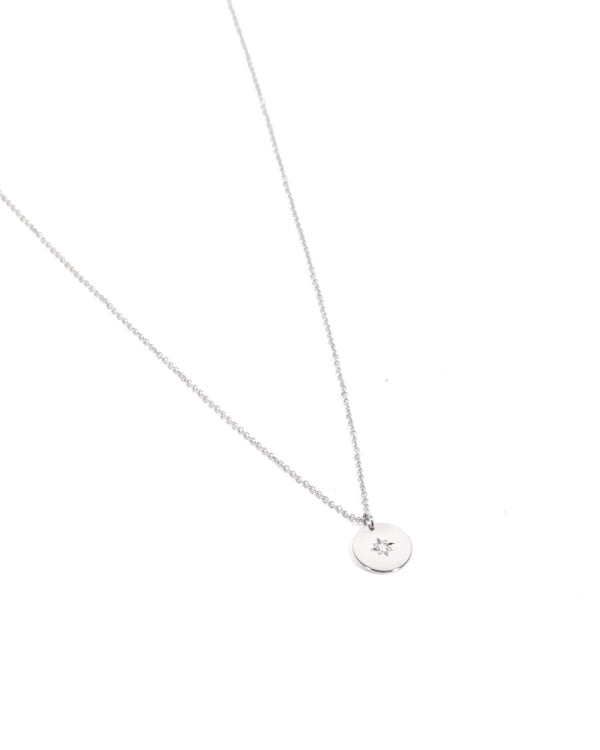 Sunray Diamond Necklace - 9ct White Gold