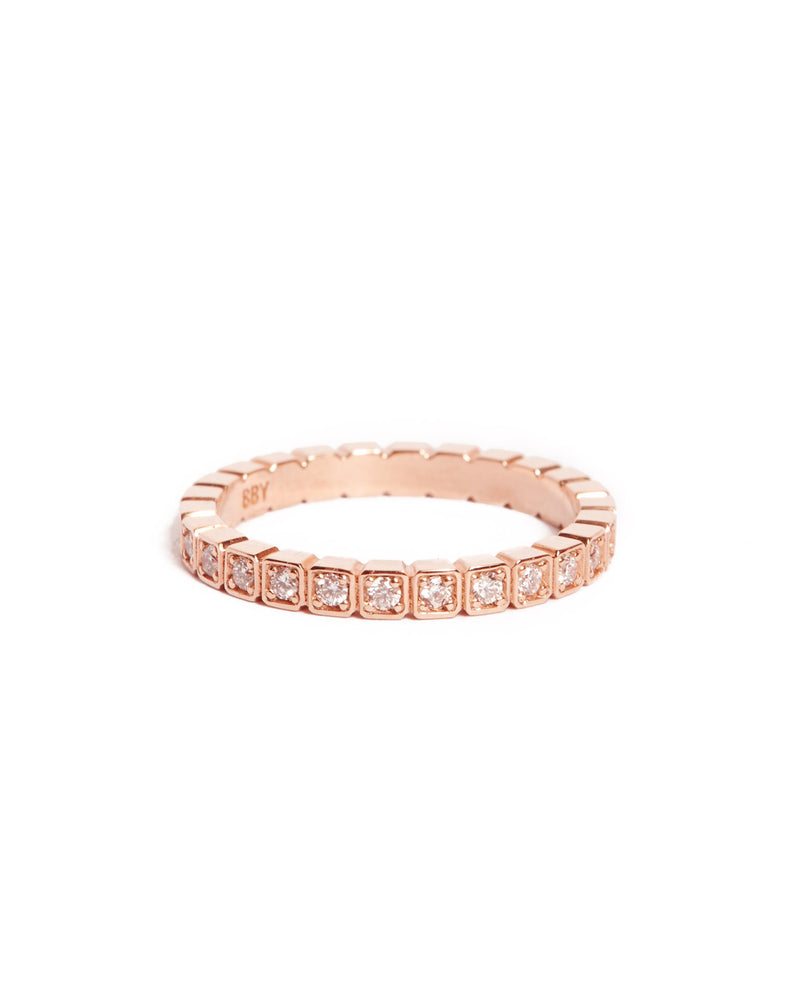 Deco Diamond Ring - 14ct Rose Gold