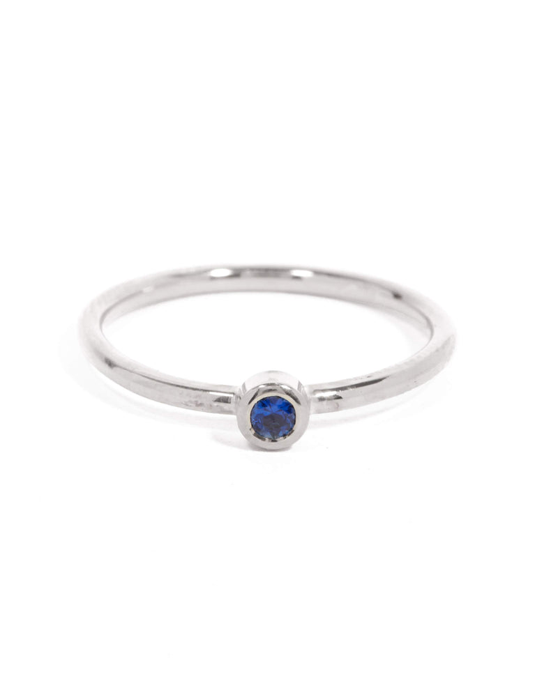 Neo Blue Sapphire Ring - 9ct White Gold