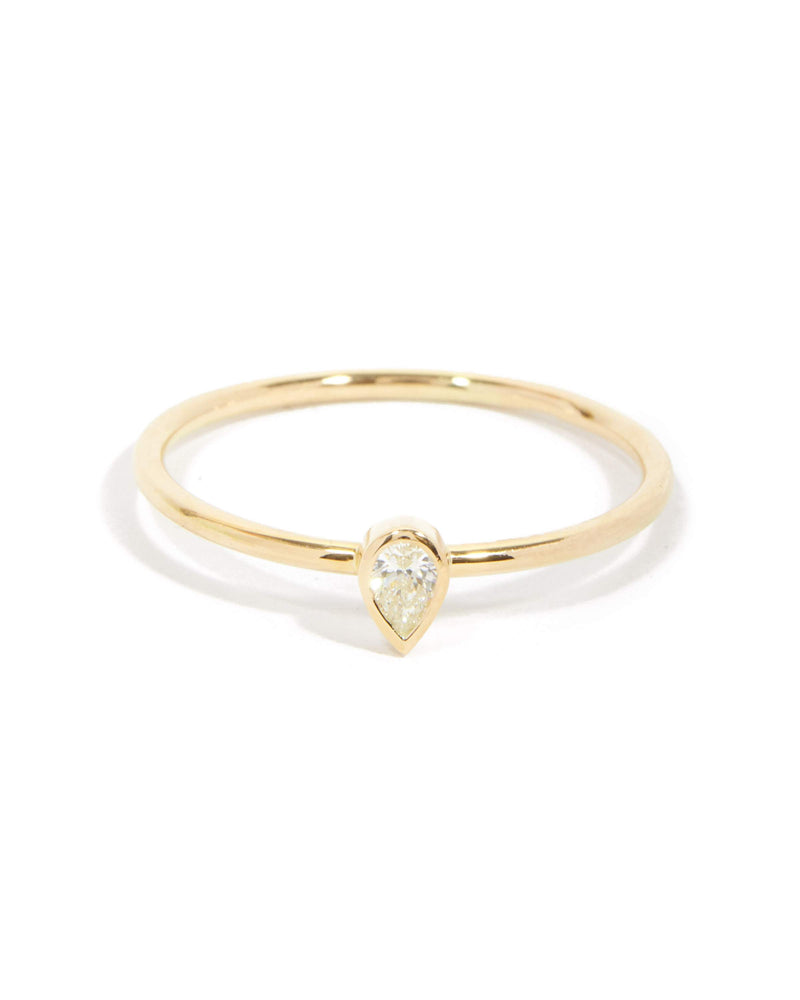 Neo Pear Shape Diamond Ring - 9ct Gold