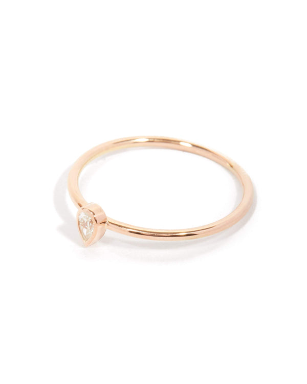 Neo Pear Shape Diamond Ring - 9ct Rose Gold