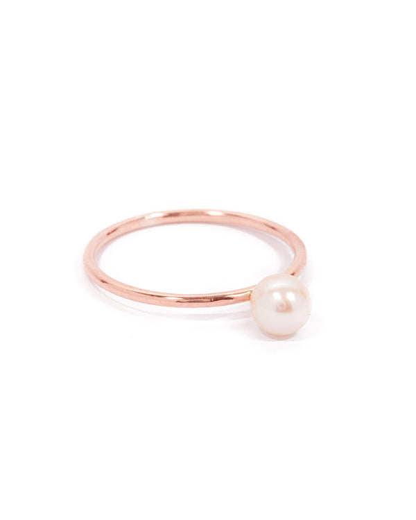 Nymph Pearl Ring - 9ct Rose Gold