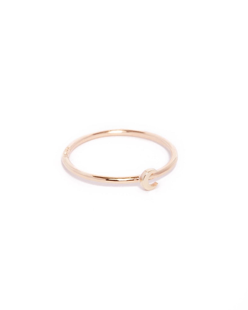 Tiny Moon Ring - 9ct Gold