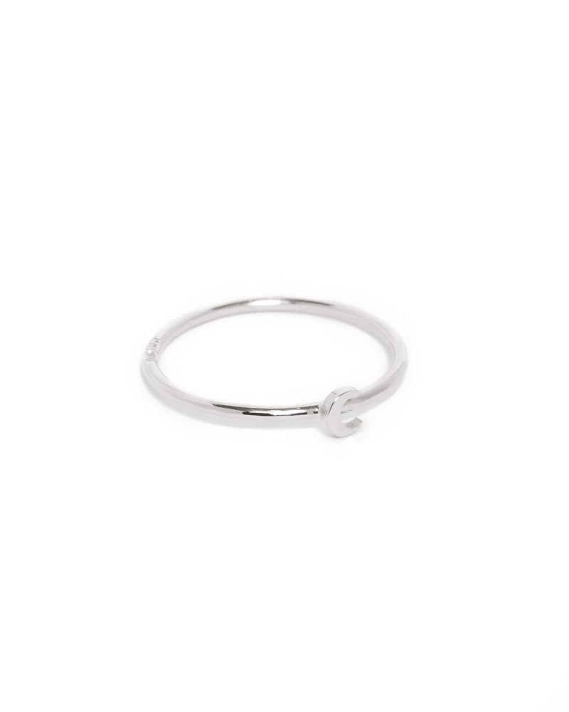 Tiny Moon Ring - Silver