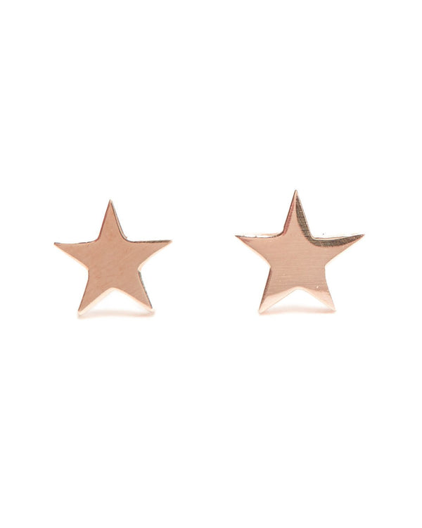 Star Studs - 9ct Rose Gold