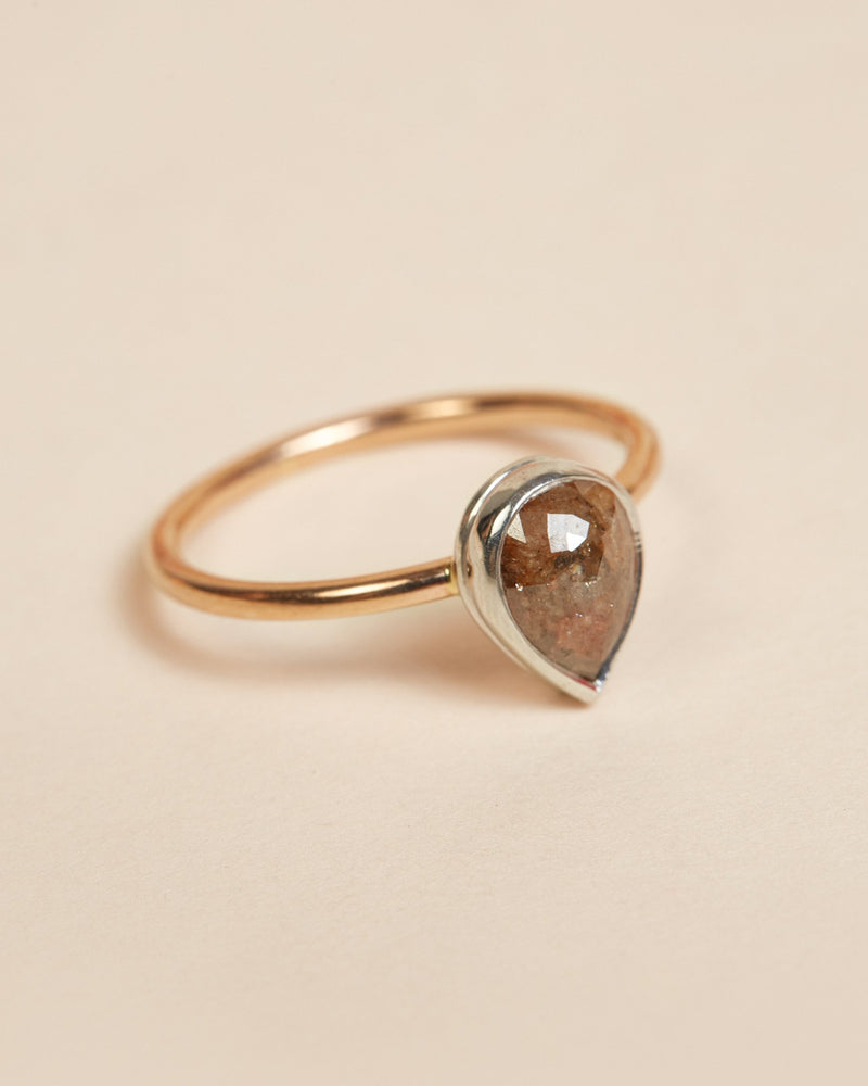 Heather Ring (Solitaire) - 9ct Rose & White Gold