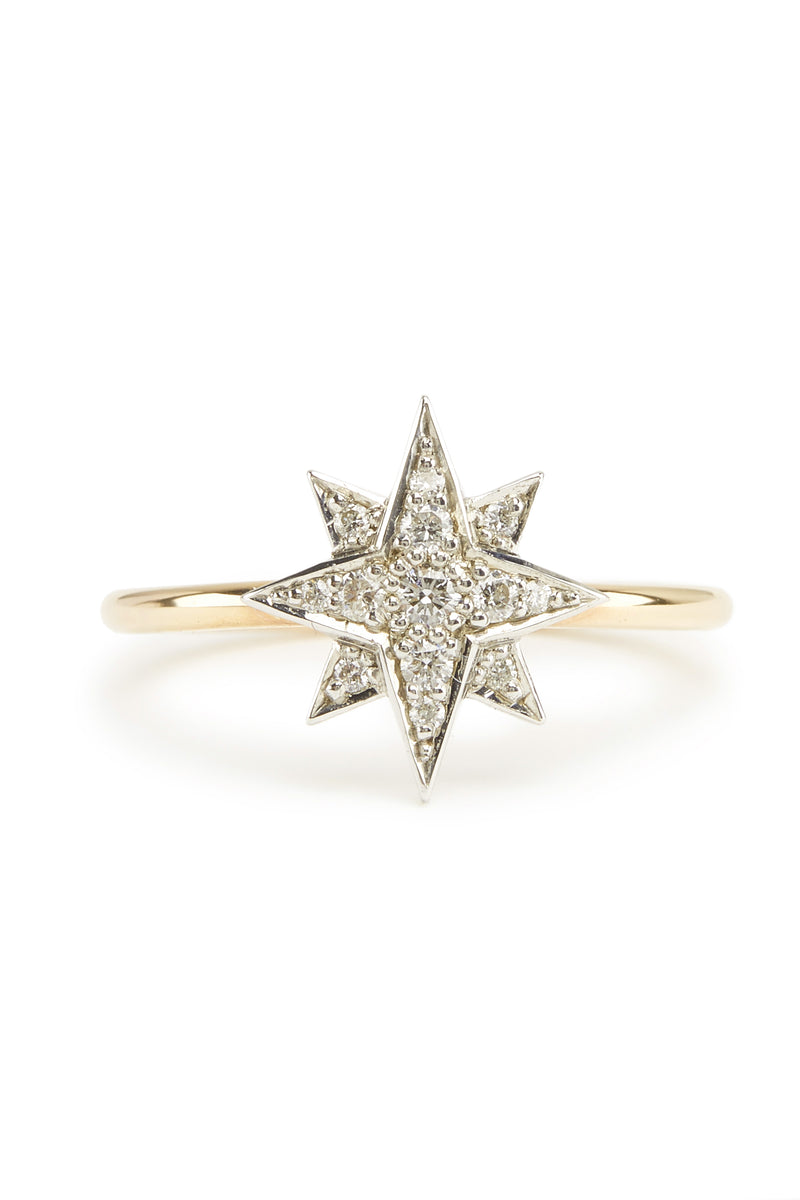 Aurora Diamond Ring - 9ct Gold & White Gold