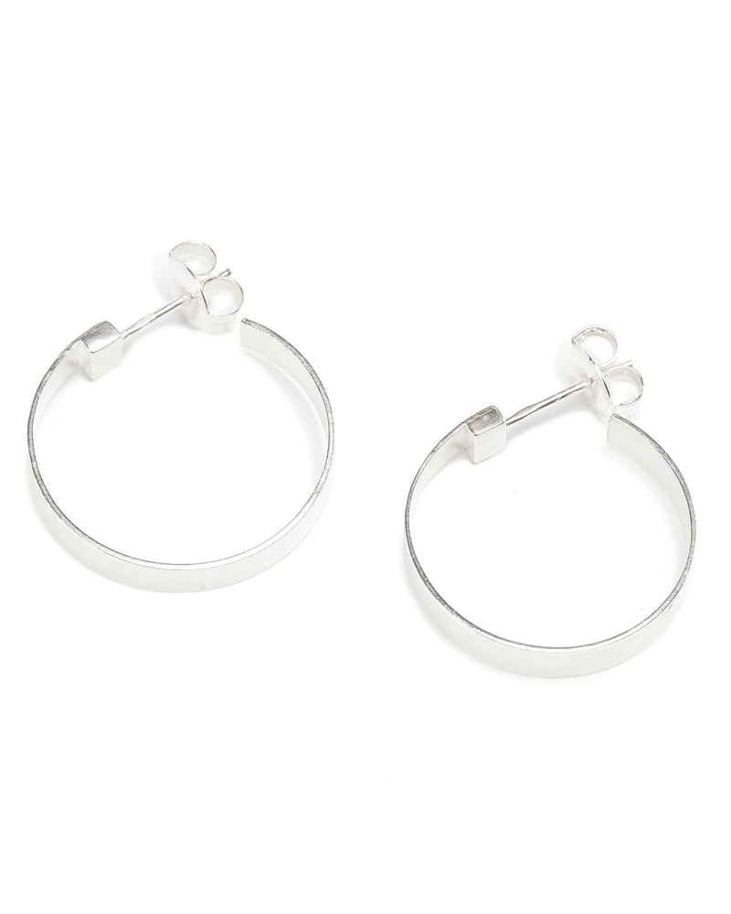 Frida Hoops (Polished) - Silver