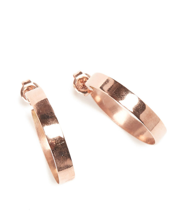 Frida Hoops (Polished) - 9ct Rose Gold