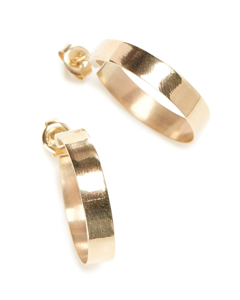 Frida Hoops (Polished) - 9ct Gold