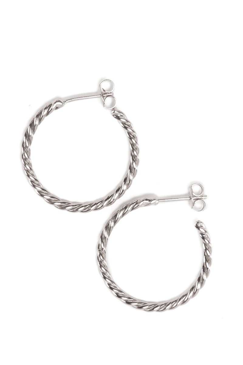 Baby Helix Hoops - Silver