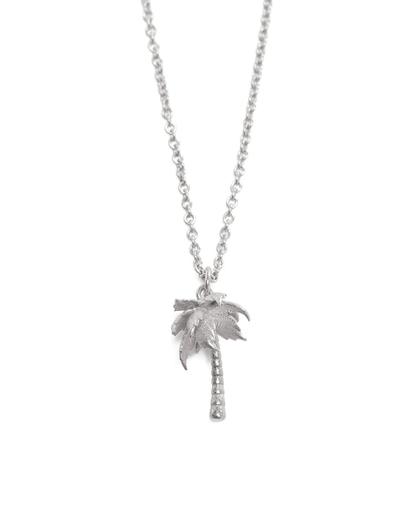 Palm Tree Necklace - Silver