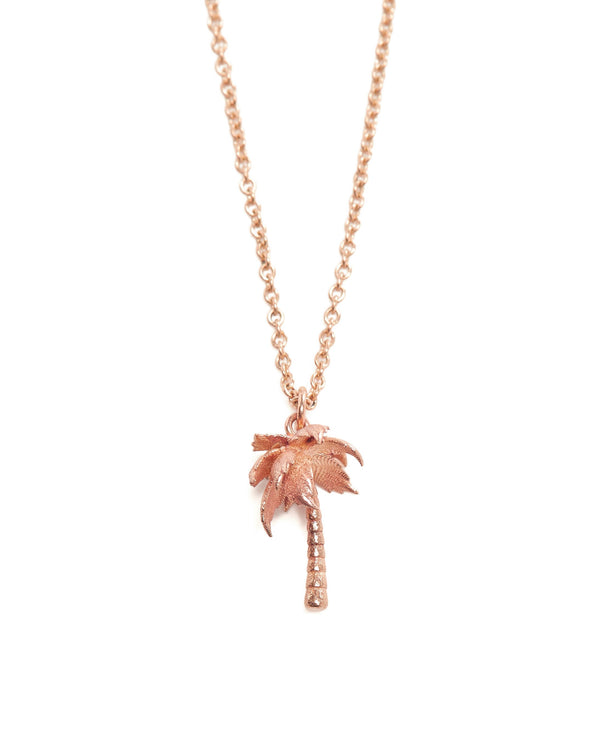 Palm Tree Necklace - 9ct Rose Gold