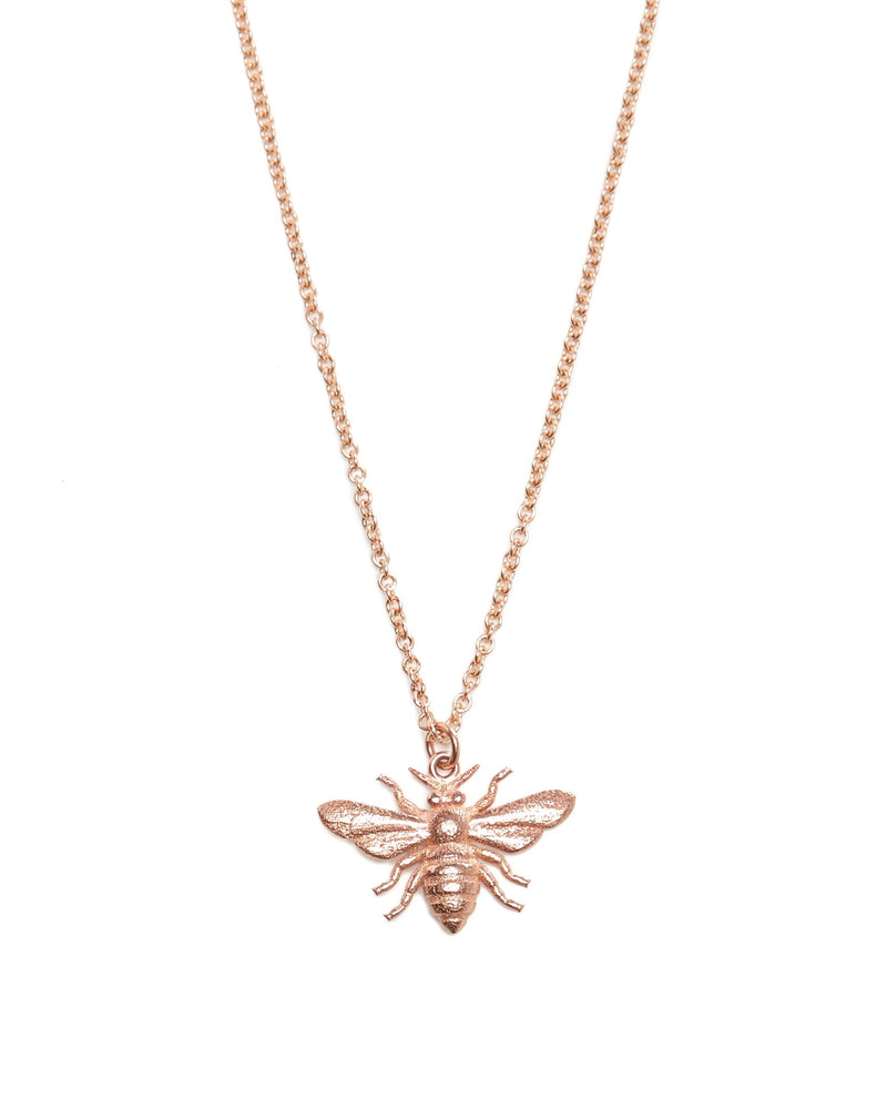 Honey Bee Necklace - 9ct Rose Gold