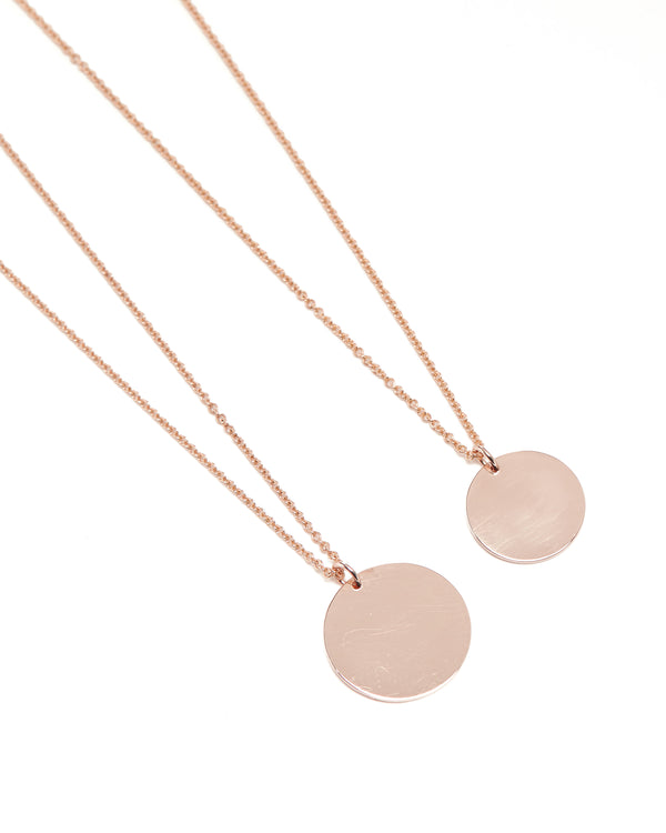 Capri Necklace Large - 9ct Rose Gold