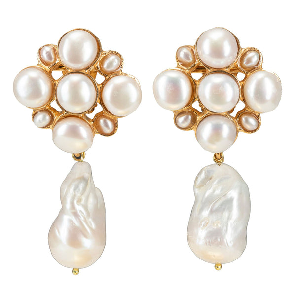 Margot Earrings Pearl