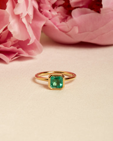 Esmeralda II Emerald Solitaire - 18ct Gold