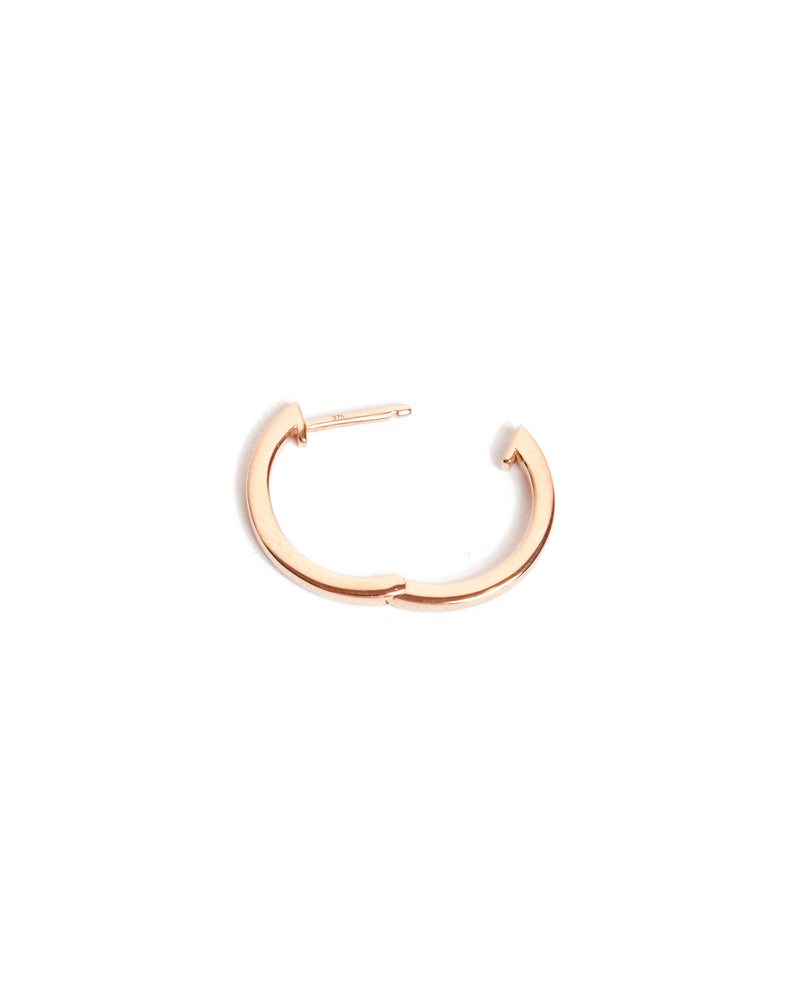 Square Huggie Large - 9ct Rose Gold