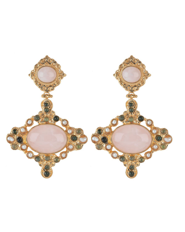 Claudina Earrings Pink