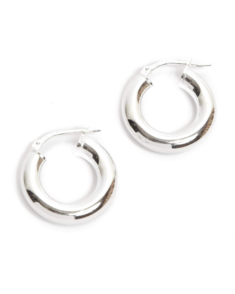 Super Chunky Tube Hoops Extra Small - Silver