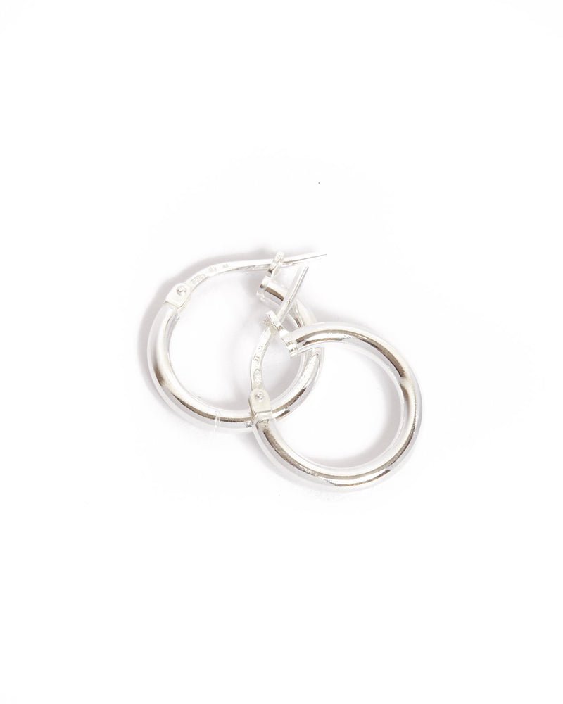Narrow Tube Hoops Extra Small - Silver