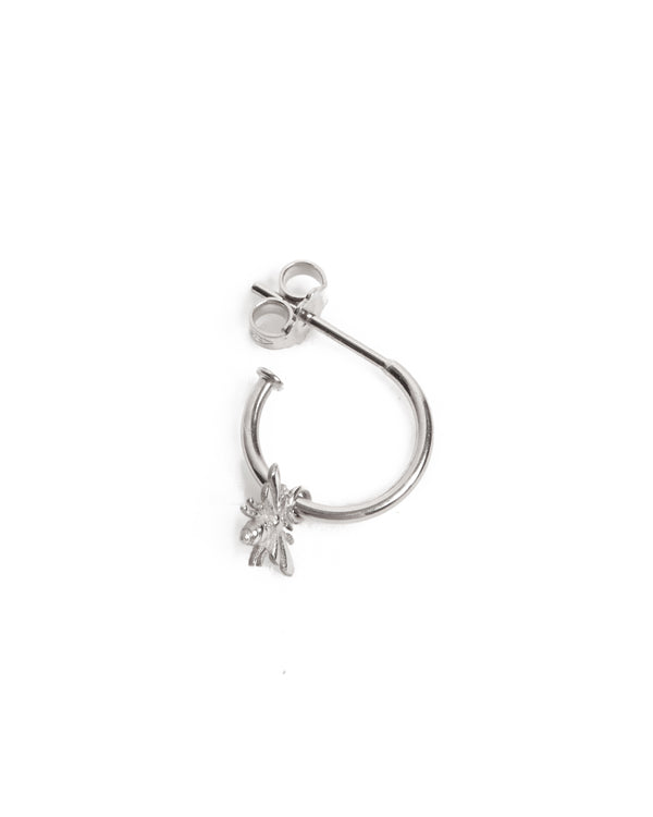 Tiny Honey Bee Drop - Silver