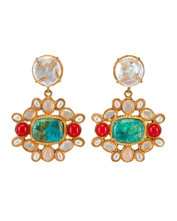 Abriana Earrings Gold & Multi