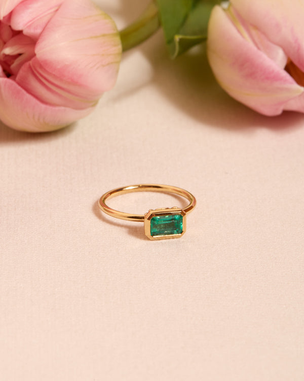 Esmeralda Emerald Solitaire - 18ct Gold
