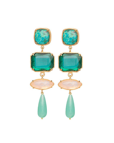 Emiliana Earrings Green