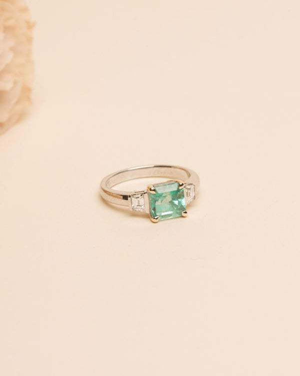 Cleo Emerald & Diamond Ring