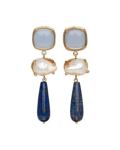 Eva Earrings Blue
