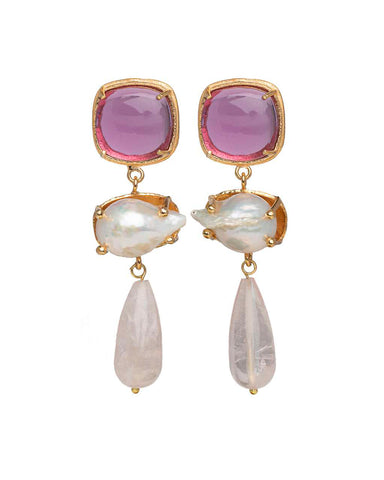 Eva Earrings Pink