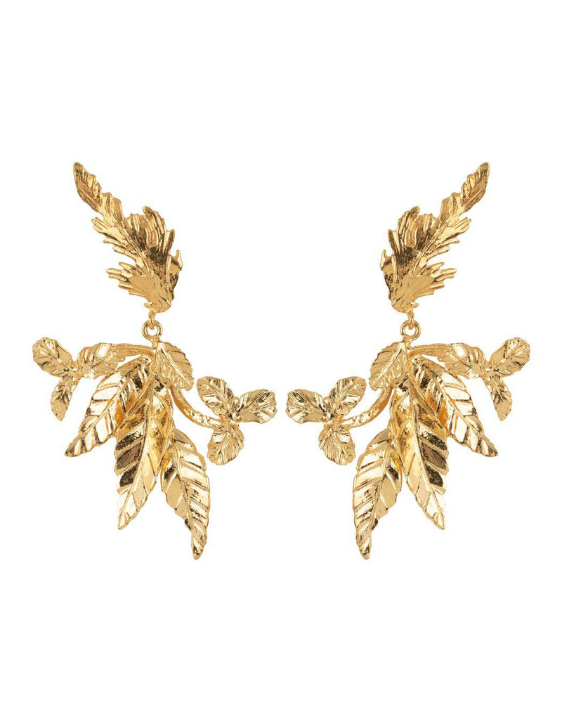 Flor Earrings Gold
