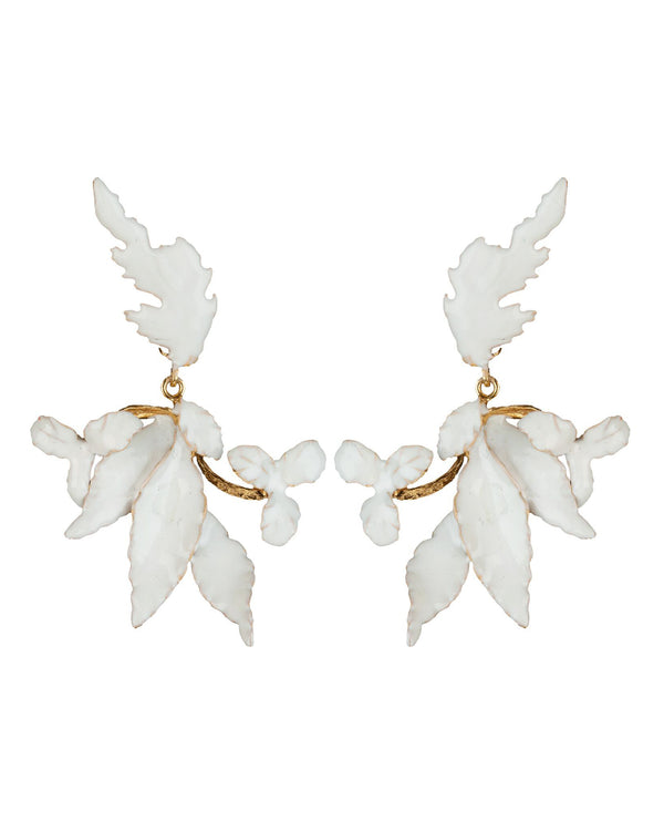 Flor Earrings White