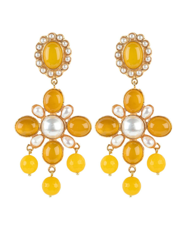 Florencia Earrings Yellow