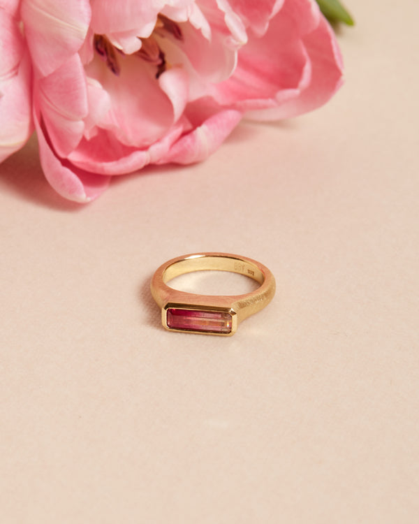 Nico Ring with Bi-Coloured Tourmaline - 18ct Gold