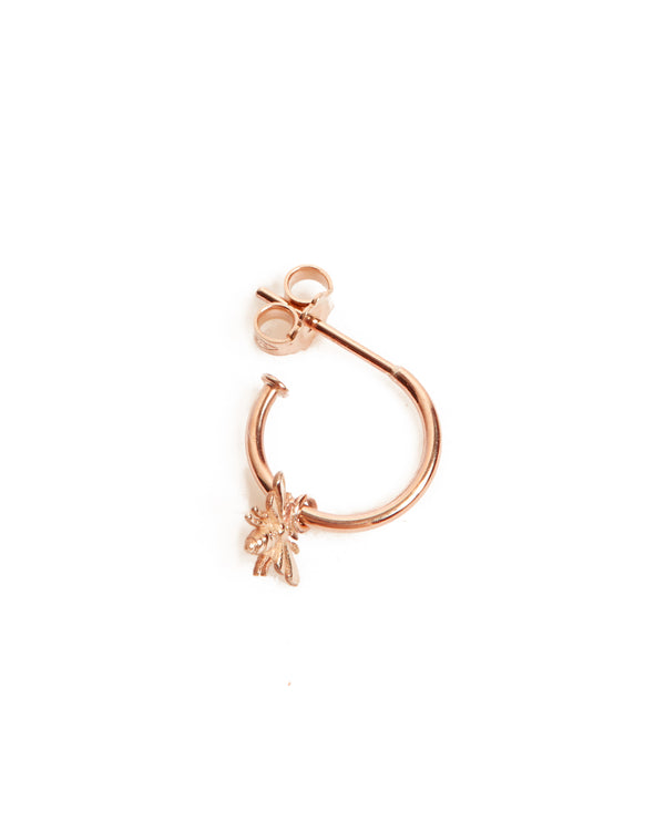 Tiny Honey Bee Drop - 9ct Rose Gold