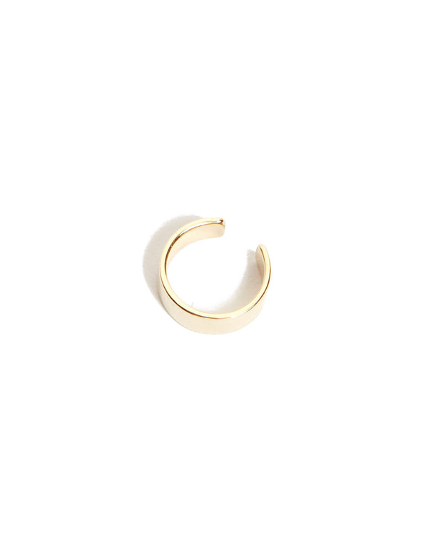 Wide Ear Cuff - 9ct Gold