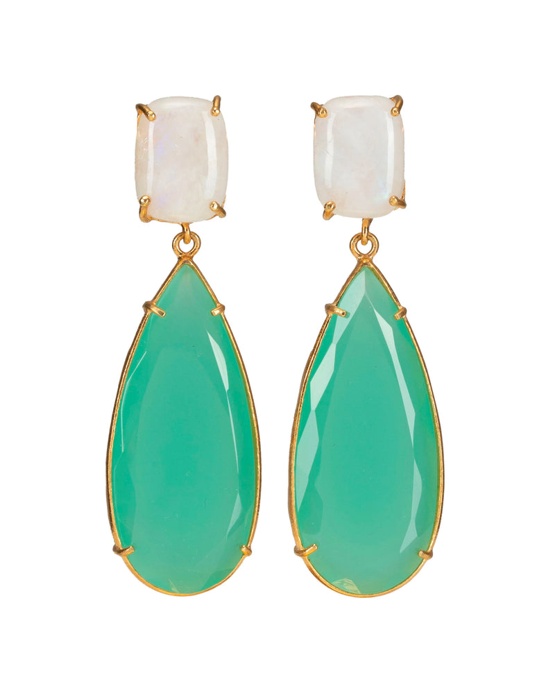 Franca Earrings Green