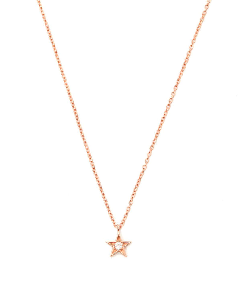 Star Diamond Necklace - 9ct Rose Gold