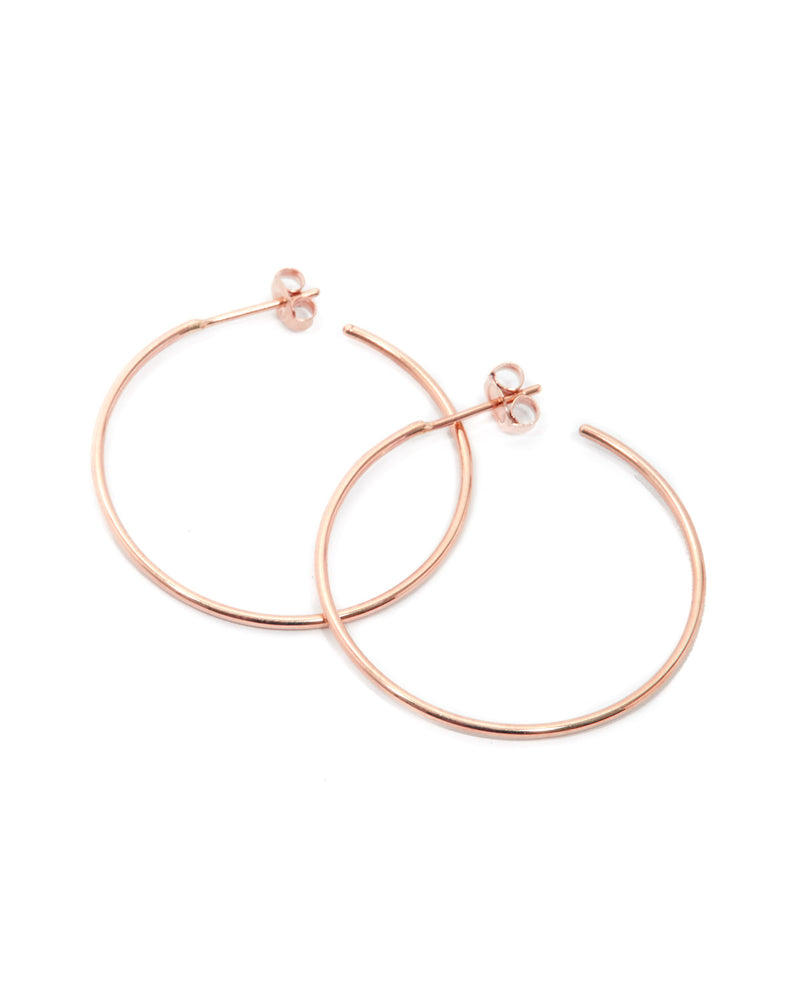 90's Hoops - 9ct Rose Gold