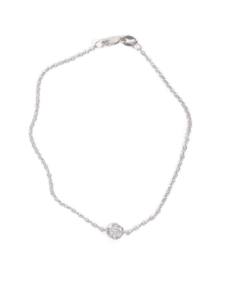 Petite Pave Diamond Bracelet - 9ct White Gold
